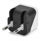Universal 1A 5V EU Plug Power Adapter + Micro 5Pin Flat Data / Laddningskabel - Svart + Vit