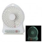 F-59 Portable USB 2.0 / 18650 Li-ion Battery Rechargeable 4-Blade Fan - White - USB Fans Consumer Electronics