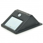 YY-601 White PIR Motion Solar Sensor Wall Light - Black