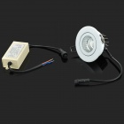 YouOKLight 7W 513lm 3500K 1-COB LED Warm White Embedded Ceiling Lamp - White + Black (AC 100~240V)