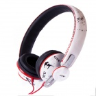 OYK OK-402 Detachable Headband Headphone w/ Microphone -White + Multicolored