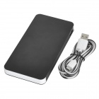 "Ultra Thin ""10000mAh"" Dual USB Port Li-polymer Mobile Power Bank w/ Indicator Light - Black +  White"