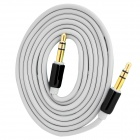 D&S DSM8110 3.5mm Male to Male Stereo Aux Car Audio Cable - Gray + Black (100cm)