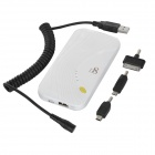 MFi D8 1206 5000mAh Li-polymer Battery Power Bank w/ LED Indicator for IPHONE + More - White
