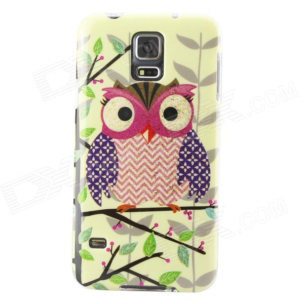 все цены на Gold Shimmering Owl Pattern Protective TPU Back Case for Samsung Galaxy S5 онлайн