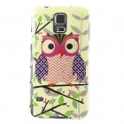 Gold Shimmering Owl Pattern Protective TPU Back Case for Samsung Galaxy S5