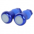 Bike Bicycle Handlebar Grip Red Light 2-Mode LED Warning Safety Light - Blue (Pair / 2 x AG10)