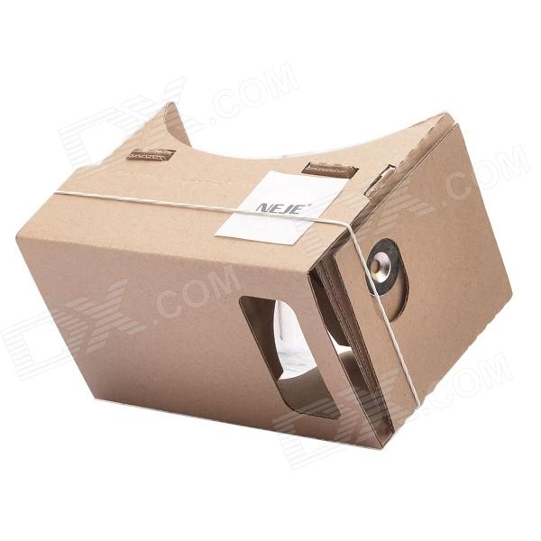NEJE ZB02 DIY Google Cardboard + Resin Lens Virtual 3D Glasses w/ NFC for 4~7