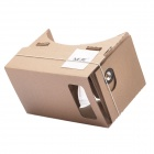 "NEJE ZB02 DIY Google Cardboard + Resin Lens Virtual 3D Glasses w/ NFC for 4~7"" Cellphones - Brown"