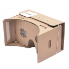 ZB02 DIY Cardboard Virtual 3D Glasses w/ NFC - Brown