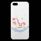 Ultra-thin Embossed Hobbyhorse Pattern Protective Plastic Back Cover Case for IPHONE 5 / 5S - White