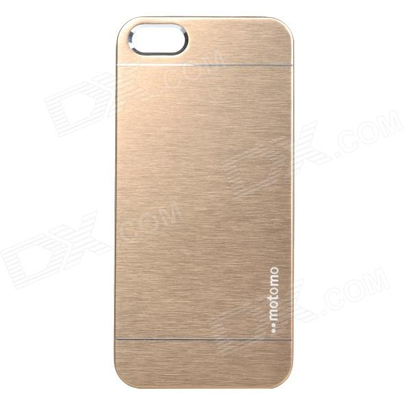 Fashionable Protective Aluminum Alloy Back Case for IPHONE 5 / 5S - Golden цена и фото
