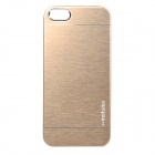 Fashionable Protective Aluminum Alloy Back Case for IPHONE 5 / 5S - Golden