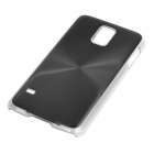 Sunshine Protective CD Grain Style Aluminum Alloy + PC Back Case for Samsung Galaxy S5 - Black