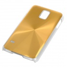 Sunshine Protective CD Grain Style Aluminum Alloy + PC Back Case for Samsung Galaxy S5 - Golden