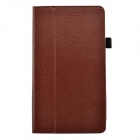 "Lichee Pattern Protective PU Leather Case for Huawei 8"" MediaPad M1 - Brown"