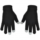 Smart Phone Capacitive Screen Touch Sport Gloves - Black + White
