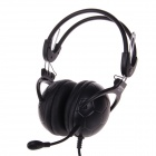 KEENION KDM-730 Football Shape Gaming 3.5mm Wired Headband Headphone w/ Microphone - Black