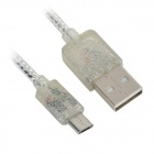 Micro USB Male to USB Male Charging Data Cable w/ Perfume - Silver (95cm)