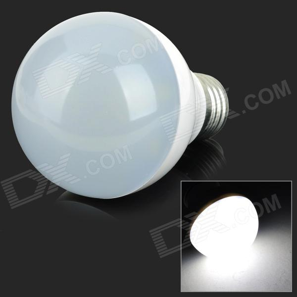 XUN SL-007 E27 7W 650lm 6500K 14-SMD 5730 LED Cool White Indoor Bulb - White + Silver