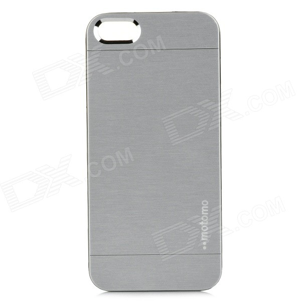 Fashion Motomo Protective Aluminum Alloy Hard Case for IPHONE 5 / 5S - Silver защитная плёнка для lg h324 leon антибликовая luxcase