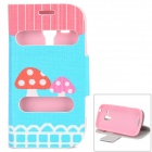 IKKI Mushroom Pattern PU leather + TPU Case w/ Stand for Samsung Galaxy Trend Duos S7562 / S7560