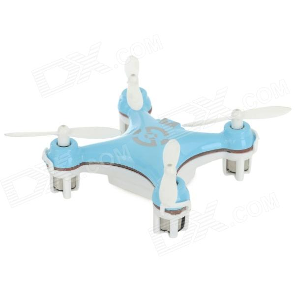 CHEERSON CX10 Mini 4-CH IR Remote Control Quadcopter w/ Gyro - Blue + White (2 x AAA)