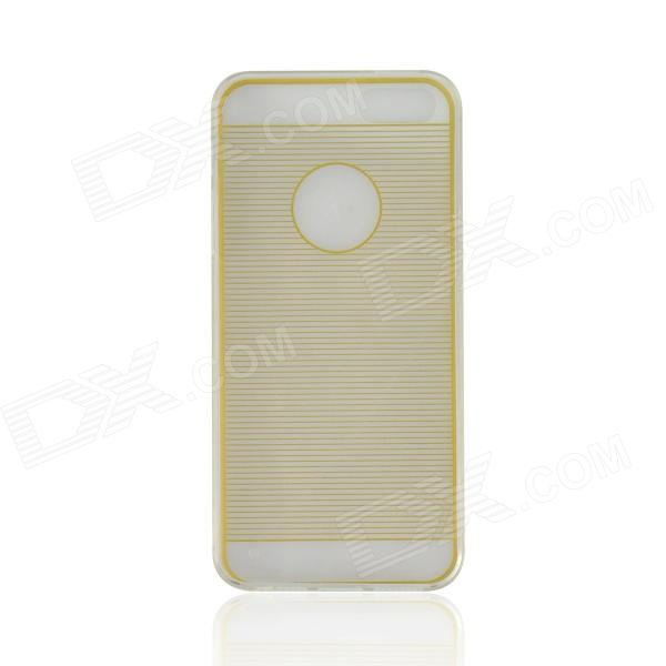 Angibabe Drawing Line Pattern Protective TPU Back Case for IPHONE 4 / 4S - Yellowish Brown stylish bubble pattern protective silicone abs back case front frame case for iphone 4 4s