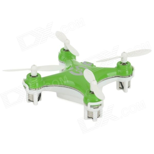 CHEERSON CX10 Mini 4-CH IR Remote Control Quadcopter w/ Gyro - Green + White (2 x AAA)