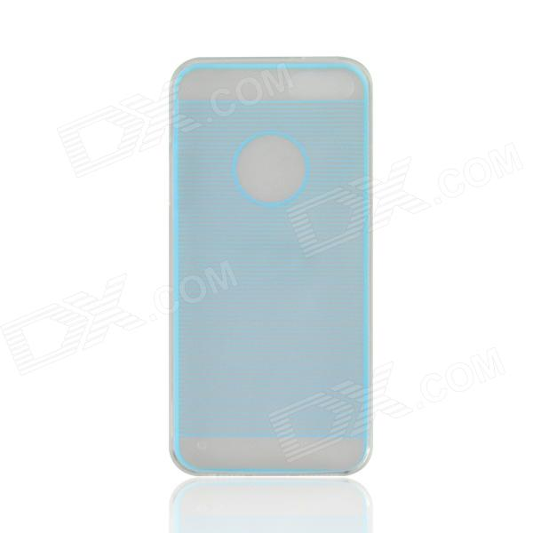 Angibabe 0.3mm Drawing Line Pattern Protective TPU Back Case for IPHONE 4 / 4S - Sky Blue angibabe 2 in 1 protective tpu pc back case for iphone 6 4 7 blue