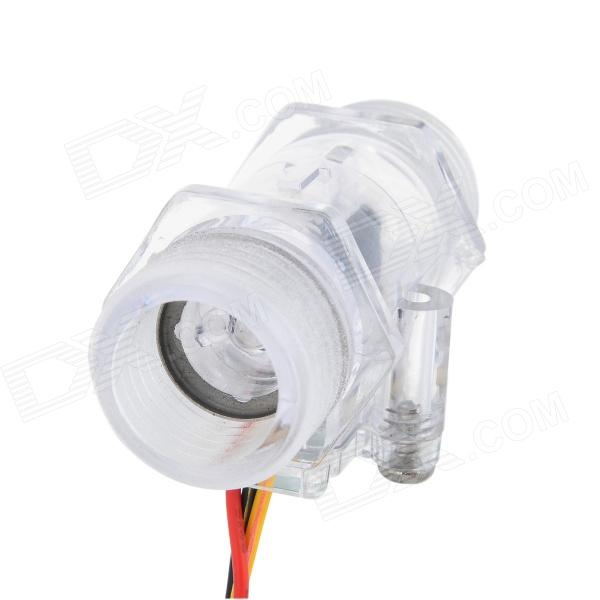 S201C PC Water Flow Sensor - Transparent (DC 5~15V)