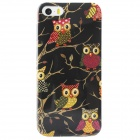 Shimmering Owl Pattern Protective TPU Back Case for IPHONE 5 / 5S - Black + Multicolored