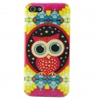 Shimmering Owl Pattern Protective TPU Back Case for IPHONE 5 / 5S - Yellow + Multicolored
