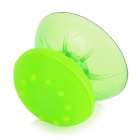 Plastic + Silicone 3D Joystick Caps + Covers for PS4 Controller - Translucent Green (2 PCS)