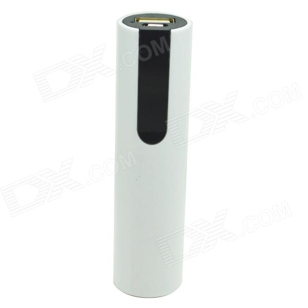 ODEM 1500mAh Li-ion Battery Mobile Power Bank - White + Black