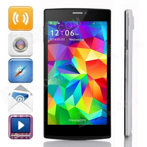 "JIAKE V6 MTK6582 Quad-Core Android 4.2.2 WCDMA Smart Phone w/5.5"" qHD/ 8GB ROM / Wi-Fi / GPS - White"