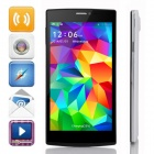 "JIAKE V6 5.5"" QHD MTK6582 Quad-Core Android 4.2.2 WCDMA Smart Phone w/ 8GB ROM / Wi-Fi / GPS - White"