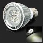E5-LIGHTING PAR701 E27 6W 420lm 6000K 5-LED Cool White Spotlight - Silver (AC 85~265V)