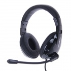 KEENION KDM-1013 Portable Stereo 3.5mm Wired Headband Headphones w/ Microphone - Black
