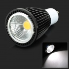 GU10 9W 280lm 6000K 1-COB LED White Light Spotlight - Black (AC 85~265V)