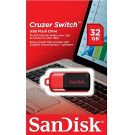 SanDisk Cruzer Switch 32GB USB 2.0 Flash Drive With SecureAceess Software- SDCZ52-032G