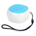 HY HY-BT75 Bluetooth V2.0 Speaker w/ FM / Microphone / TF / Micro USB - Light Blue + White