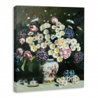 "Iarts DX0716-10 Printing + Hand-painted ""Chinese Classical Vase"" Oil Painting - White (40 x 50cm)"