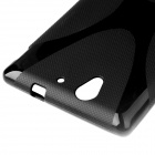 X Pattern Anti-slip TPU Back Case for Sony Xperia C3 - Black