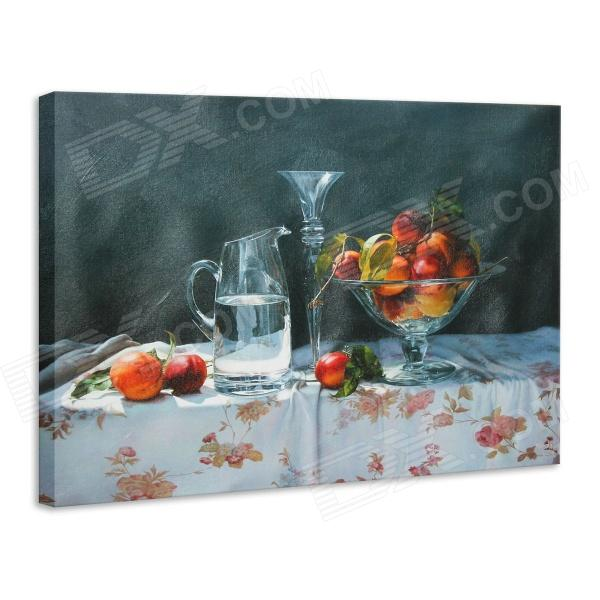 Iarts DX0716-11 Printing + Hand-painted Fruit Tray Style Oil Painting - Red (40 x 50cm) painted by a distant hand – mimbres pottery of the american southwest