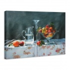Iarts DX0716-11 Printing + Hand-painted Fruit Tray Style Oil Painting - Red (40 x 50cm)
