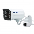 "ESCAM QD300 Brick Waterproof 1/4"" CMOS 720P Network IP Camera w/ 4-IR-LED / IR-CUT - White (UK Plug)"