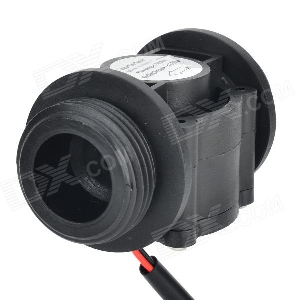 YF-108 Nylon + Fiber Glass DN25 Water Flow Sensor - Black 20 6mm impeller water flow sensor fluid flowmeter switch counter 1 30l min meter