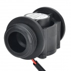Nylon + Fiber Glass DN25 Water Flow Sensor - Black