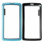 Protective TPU and PC Bumper Frame for LG G3 Mini - Blue and Black - Cases and Protectors Cell Phones and Accessories